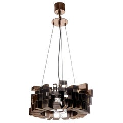 7253/N Black Finish Brass Chandelier