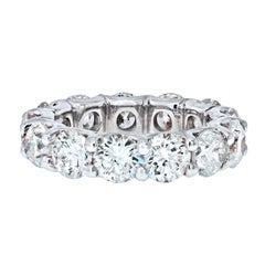 7.28 Carat U-Shape Round Diamond Eternity Band