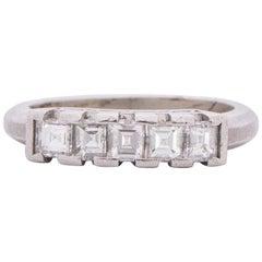 .73 Carat Total Weight Art Deco Diamond Platinum Engagement Ring