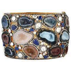 Geode Druzy Diamond Bracelet