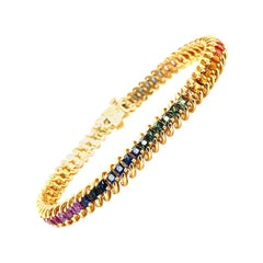 7.35 Carat Rainbow Sapphire Bracelet