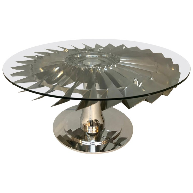 737 LP1 Jet Aircraft Fan Blade Coffee Table For Sale At