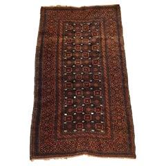 738 - Vintage Design Rug End Turkmen Afghan Bukhara