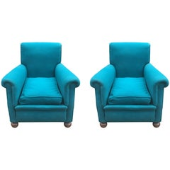 74/5000 Pair of Art Deco Armchairs, in the Style of Jules Leleu, circa 1940-1950