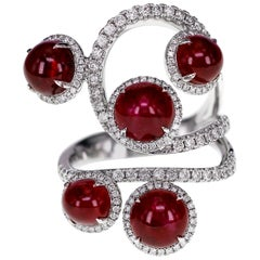 7.46 Carat Ruby and Diamond Ring