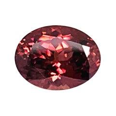 7.49 Carat Rose Zircon Oval Unset Loose 3-Stone Engagement Ring Pendant Gemstone