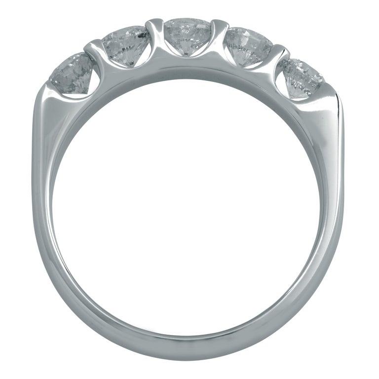 Round Cut .75 Carat Diamond Wedding Band For Sale