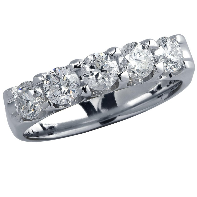 .75 Carat Diamond Wedding Band For Sale
