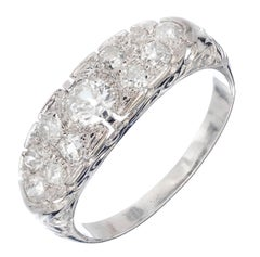 .75 Carat Pave Diamond Platinum Filigree Wedding Band Ring