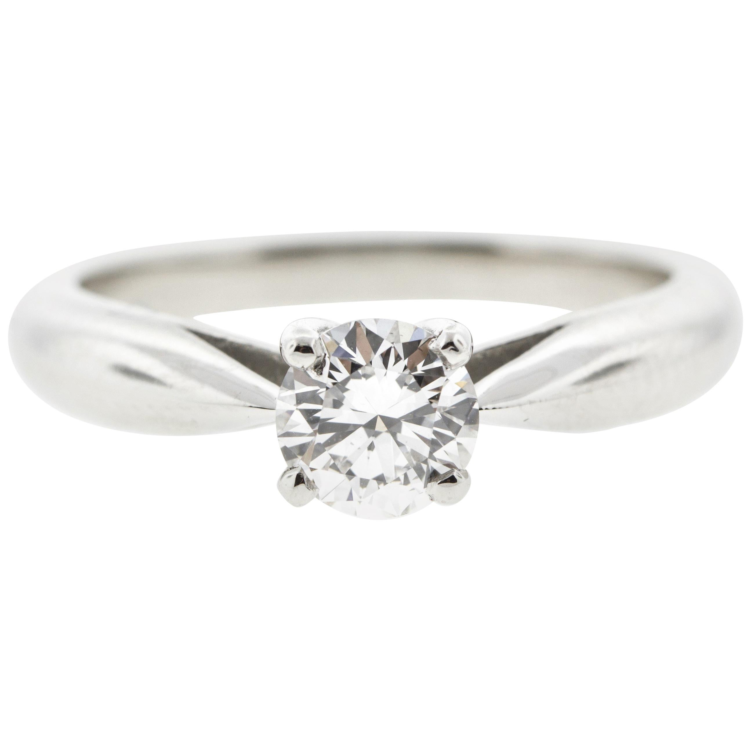 .75 D Color Internally Flawless GIA Reverse Taper Diamond Engagement Ring