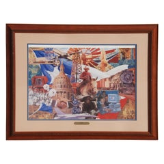 75 Years of Texas Business Signed and Numbered Lithograph by Jim Sharpe