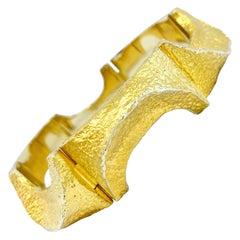 "750 / 18 Karat Yellow Gold Björn Weckström Lapponia 1972 ""Arch"" Bracelet 71g"