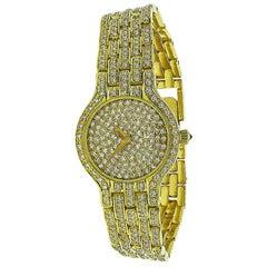 7.50 Carat Diamond Gold Concord Watch