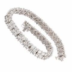 7.50 Carat Diamond Two-Row Bracelet