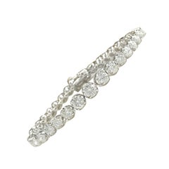 7.50 Carat Diamond 18 Karat White Gold Bracelet