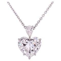 7.54 Heart-Shaped D IF Diamond Pendant GIA Certified