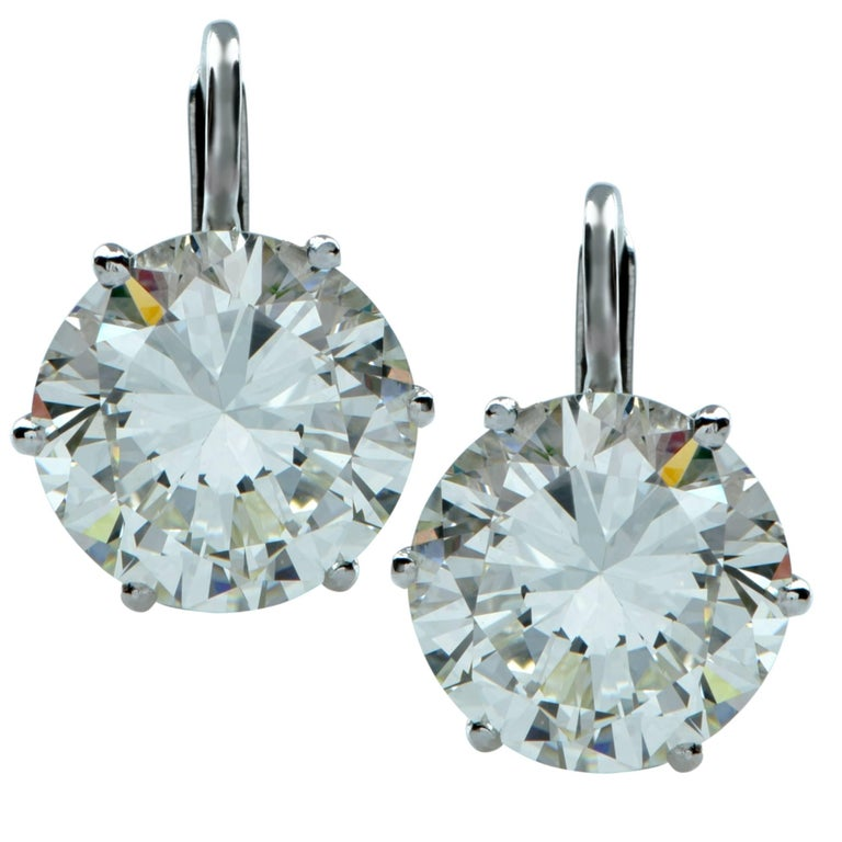 7.57 Carat Diamond Dangle Earrings