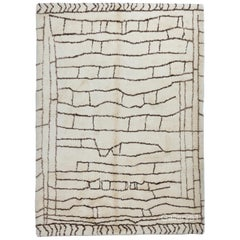 Contemporary Moroccan Beni Ourain Rug Made Of Un-dyed Natural Wool