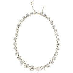 76 Carat Old European Cut Diamond Riviera Necklace