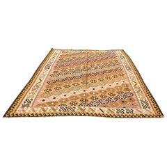 760 - Antique Kilim Carpet from the 20th Century Kazak