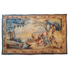 "767 - 20th Century Aubusson Tapestry ""Fisherman"""