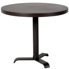 77 Round Pedestal Table in Black by Tolix