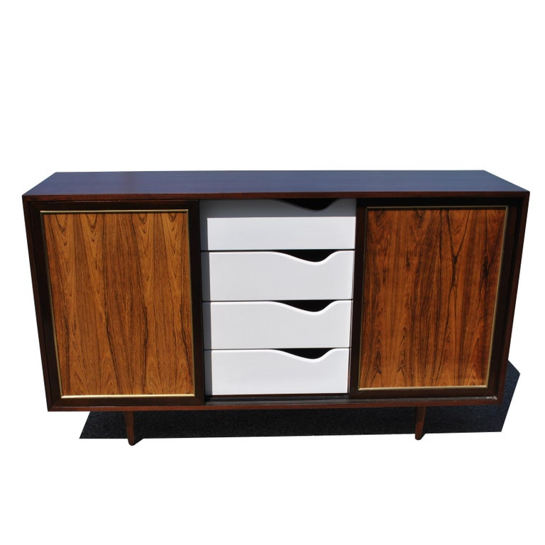 Vintage Rosewood Mahogany Harvey Probber Credenza For Sale 7