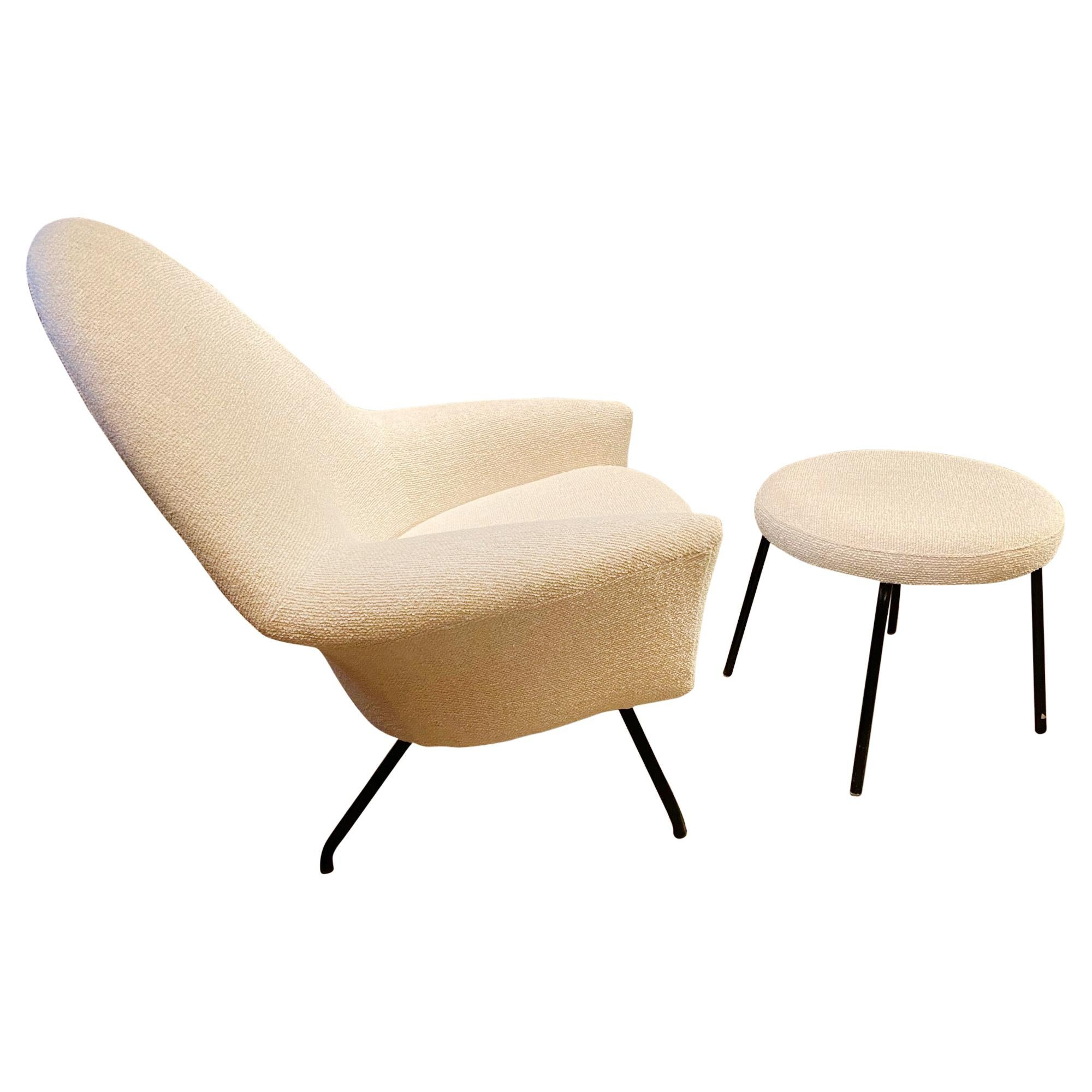 """""""770"""" Armchair and Ottoman by Joseph-André Motte for Steiner, France, 1950s"""