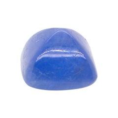 7.70 Carat Sugarloaf-Cut Unheated Burmese Blue Sapphire