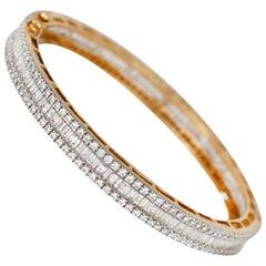 7.75 Carat Diamond Bangle