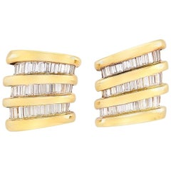 78 Baguette Diamond and Clip-On Earrings