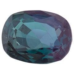 .78 Carat  Alexandrite Chrysoberyl Cushion, GIA, Unset Loose Engagement Ring Gem