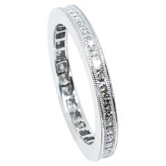 .78 Carat Princess Cut Diamond Channel Set Eternity Band 18 Karat White Gold