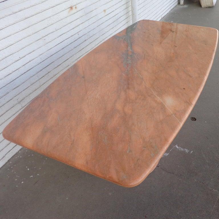 Breccia Marble Italian Breccia Oniciata Marble Pedestal Table For Sale