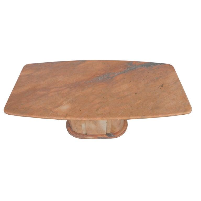 Italian Breccia Oniciata Marble Pedestal Table For Sale 1