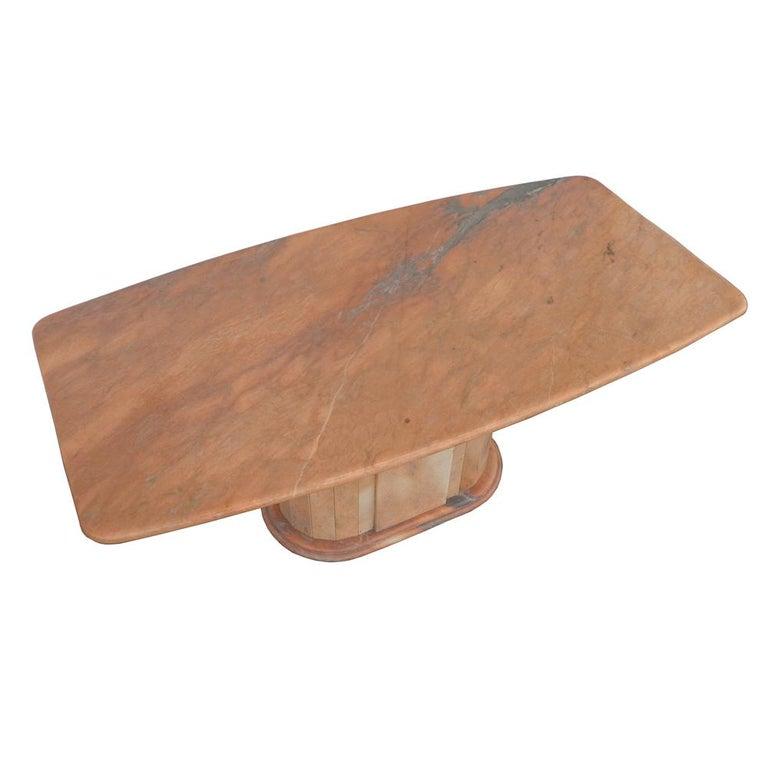 Italian Breccia Oniciata Marble Pedestal Table For Sale 2