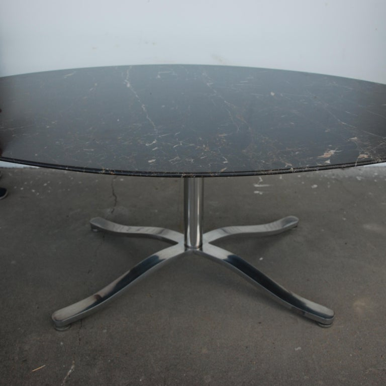 Nicos Zographos marble stainless steel dining table  78