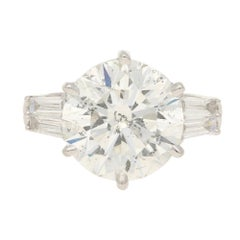 7.80 Carat Diamond Solitaire Engagement Ring White Gold
