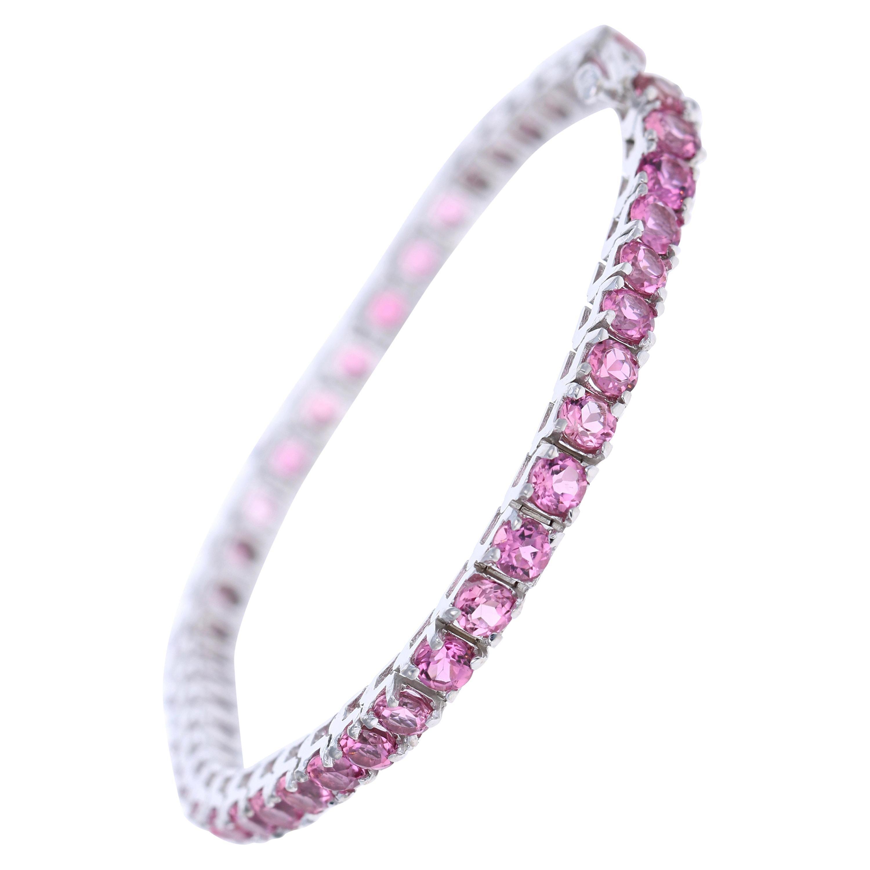 7.85 Carat Platinum Tourmaline Bracelet