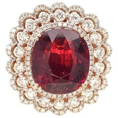 7.87 Carat Tourmaline 'Rubellite' Cocktail Ring