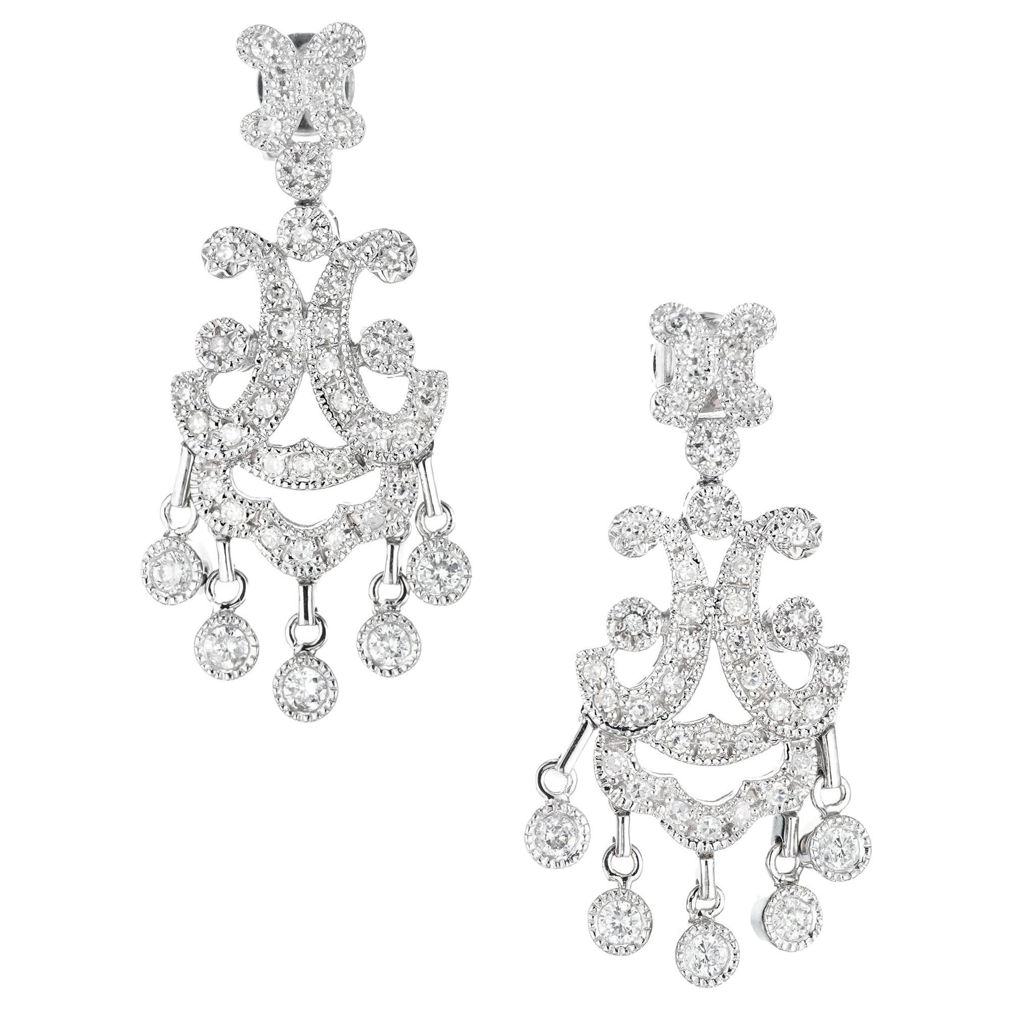 .79 Carat Diamond Chandelier Dangle Earrings