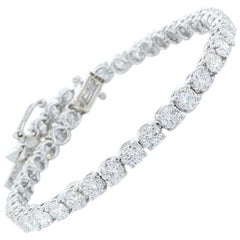 7.95 Carat Diamond Tennis Bracelet 14K White Gold