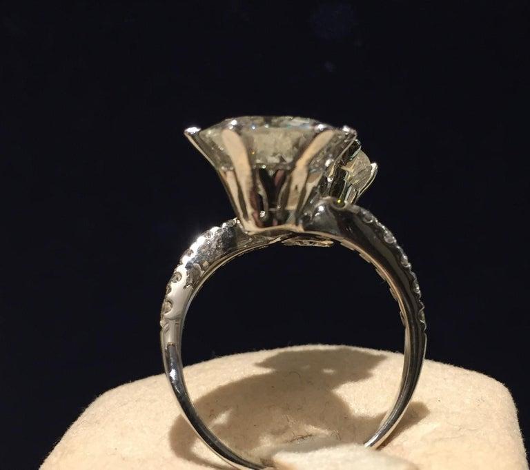 7.95 Carat Diamond Old Cut Toi Et Moi Ring 3