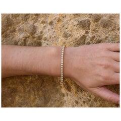 7ctw Luxe Diamond Tennis Bracelet D-F Color, VVS1-2 Clarity, Yellow Gold