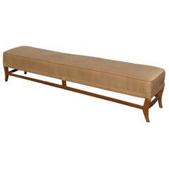 7ft Mid Century Bench