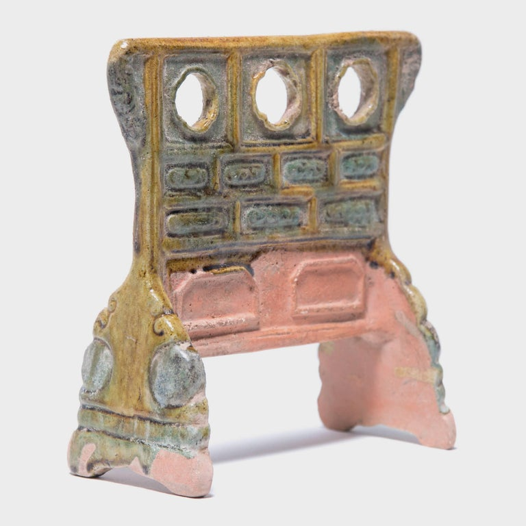Tang 7th Century Chinese Miniature Mingqi Robe Rack For Sale