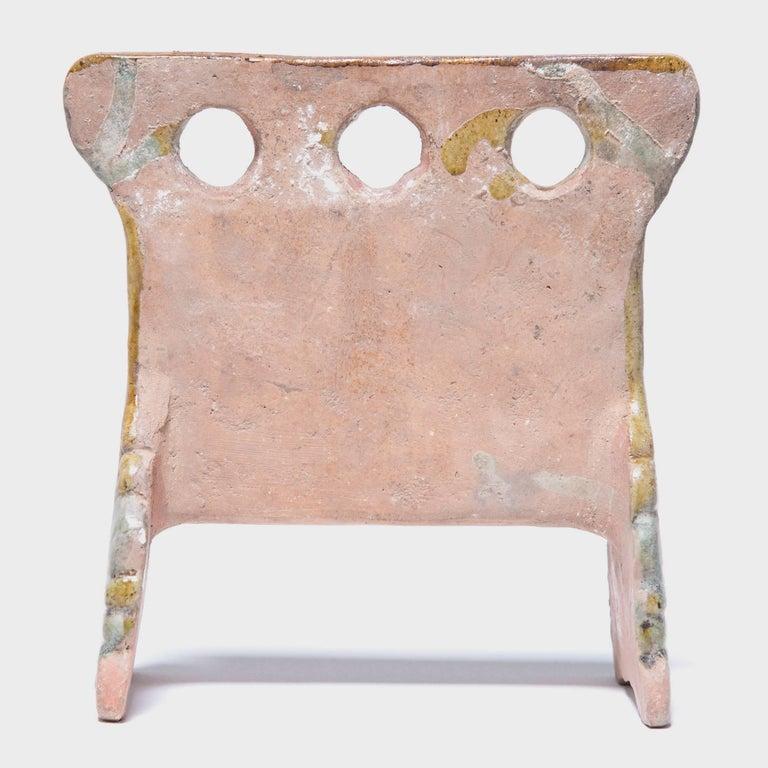 Glazed 7th Century Chinese Miniature Mingqi Robe Rack For Sale