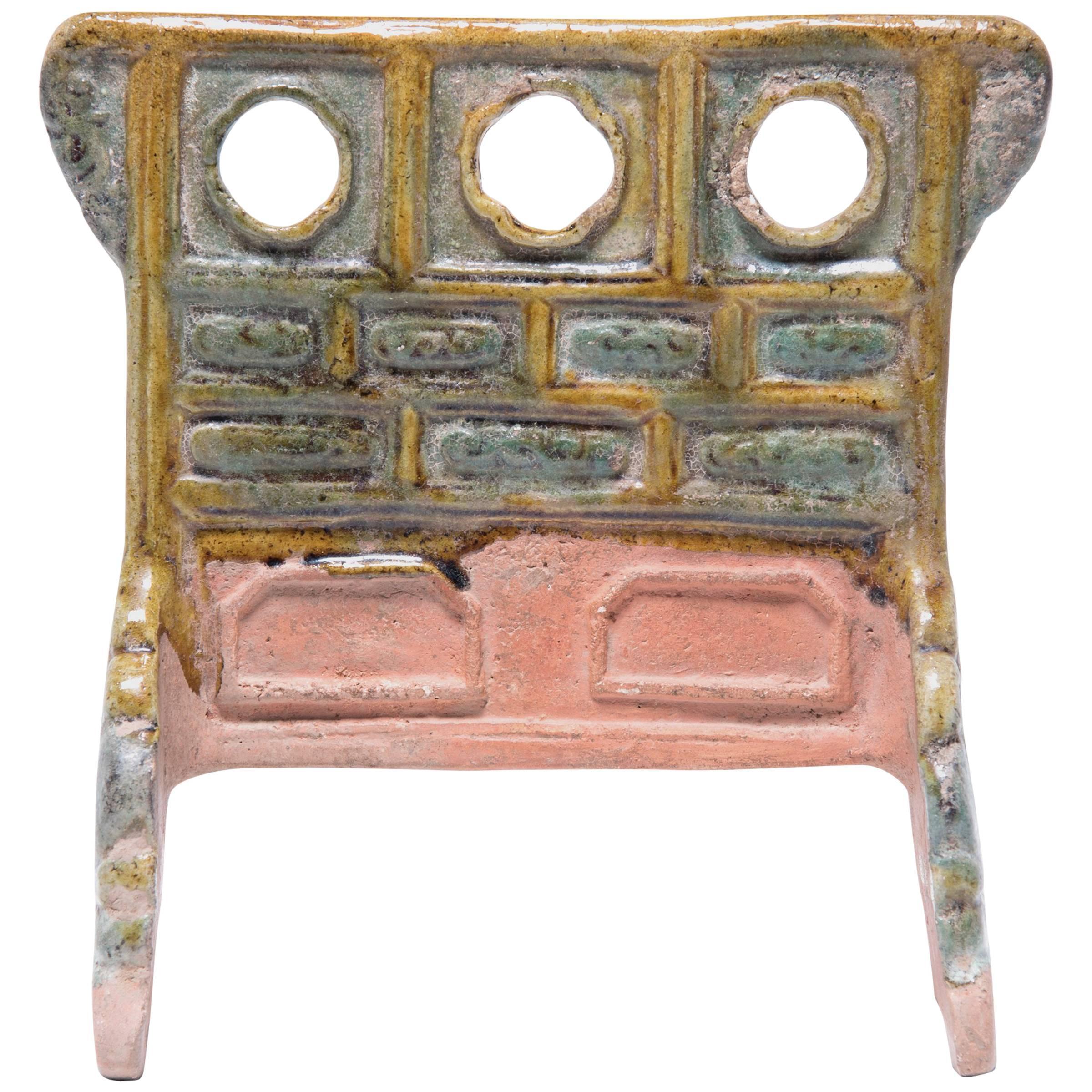 7th Century Chinese Miniature Mingqi Robe Rack