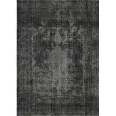 Distressed Over-Dyed Handwoven Persian Style Rug – 396