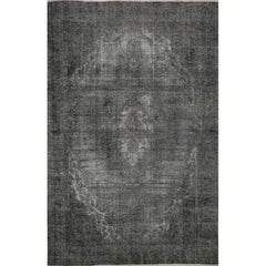 8x12 Distressed Overdyed Handwoven Persian Style Rug, 521